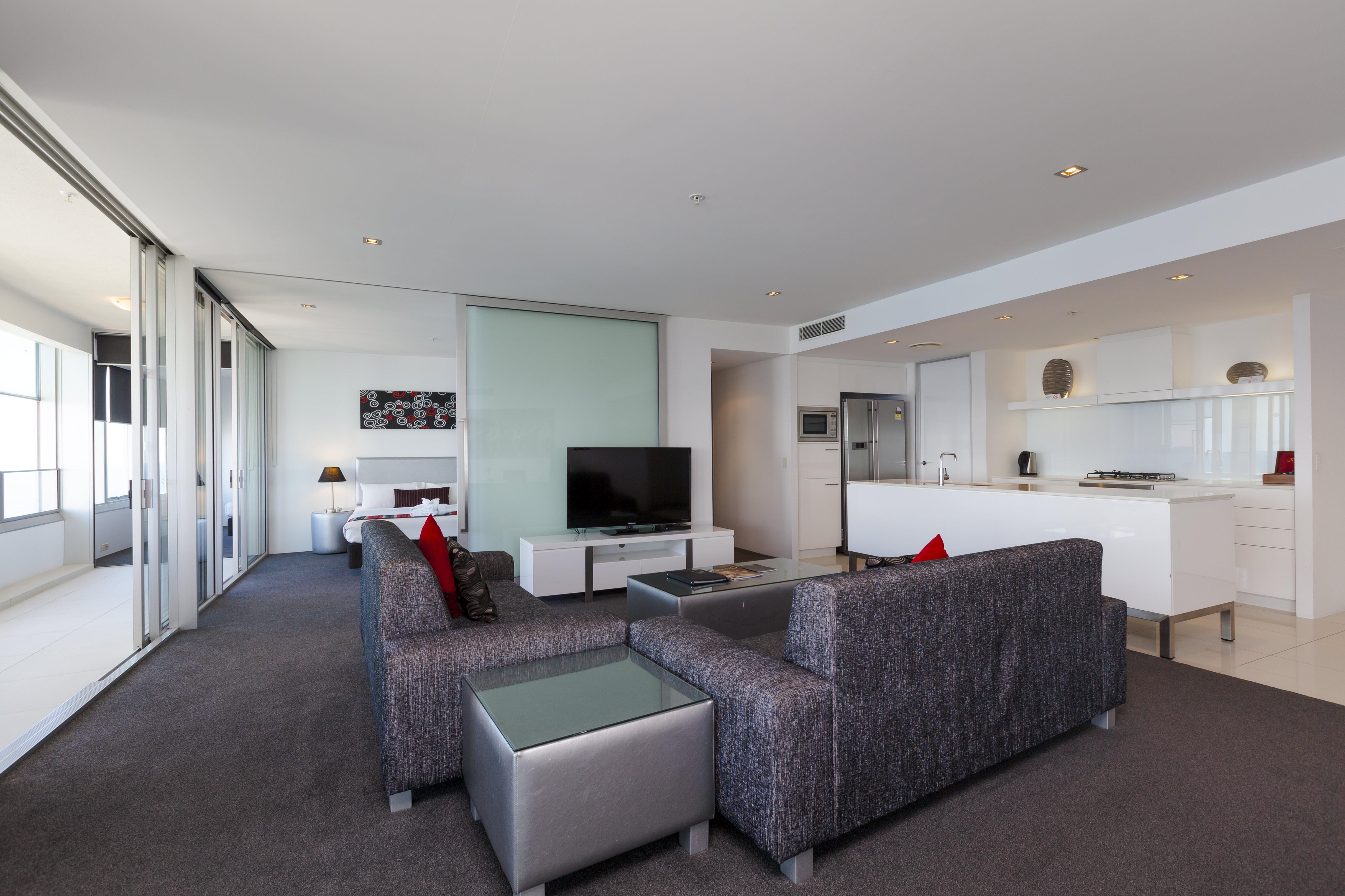 Q1 Resort & Spa Three Bedroom Spa Apartment | Living area
