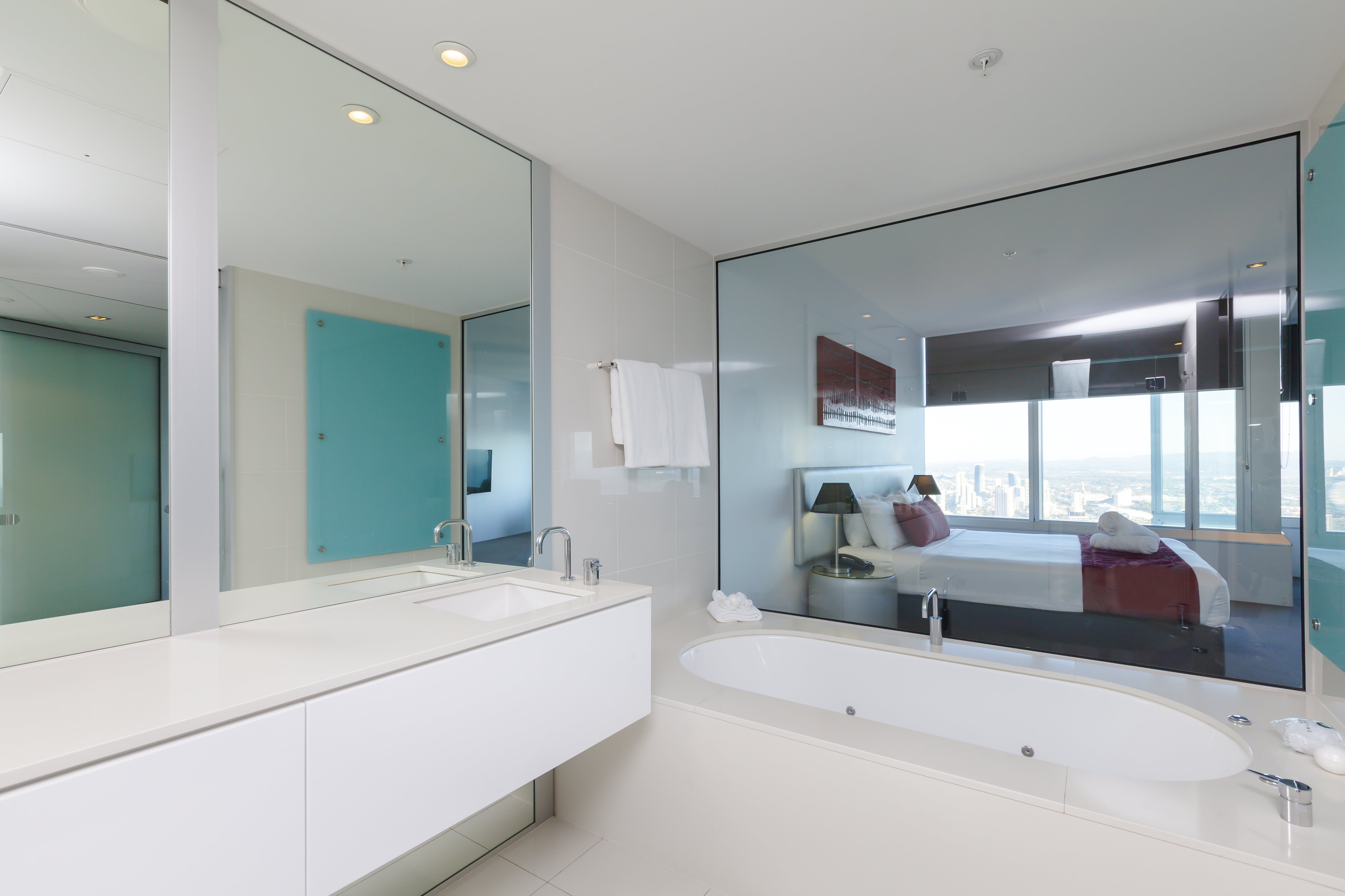 Q1 Resort & Spa Four Bedroom Executive Spa Apartment | Master Bathroom