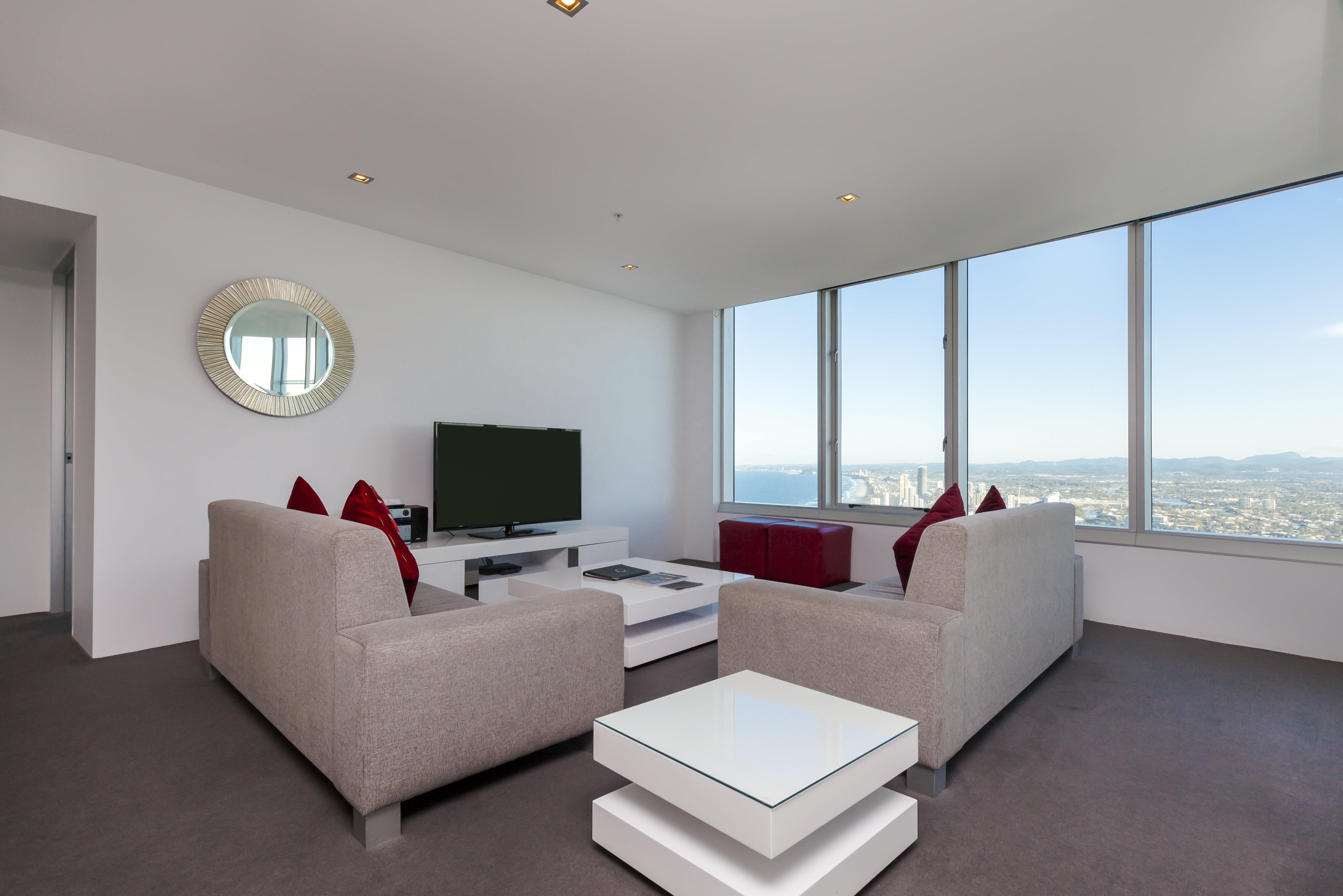 Q1 Resort & Spa Four Bedroom Executive Spa Apartment | Living Area