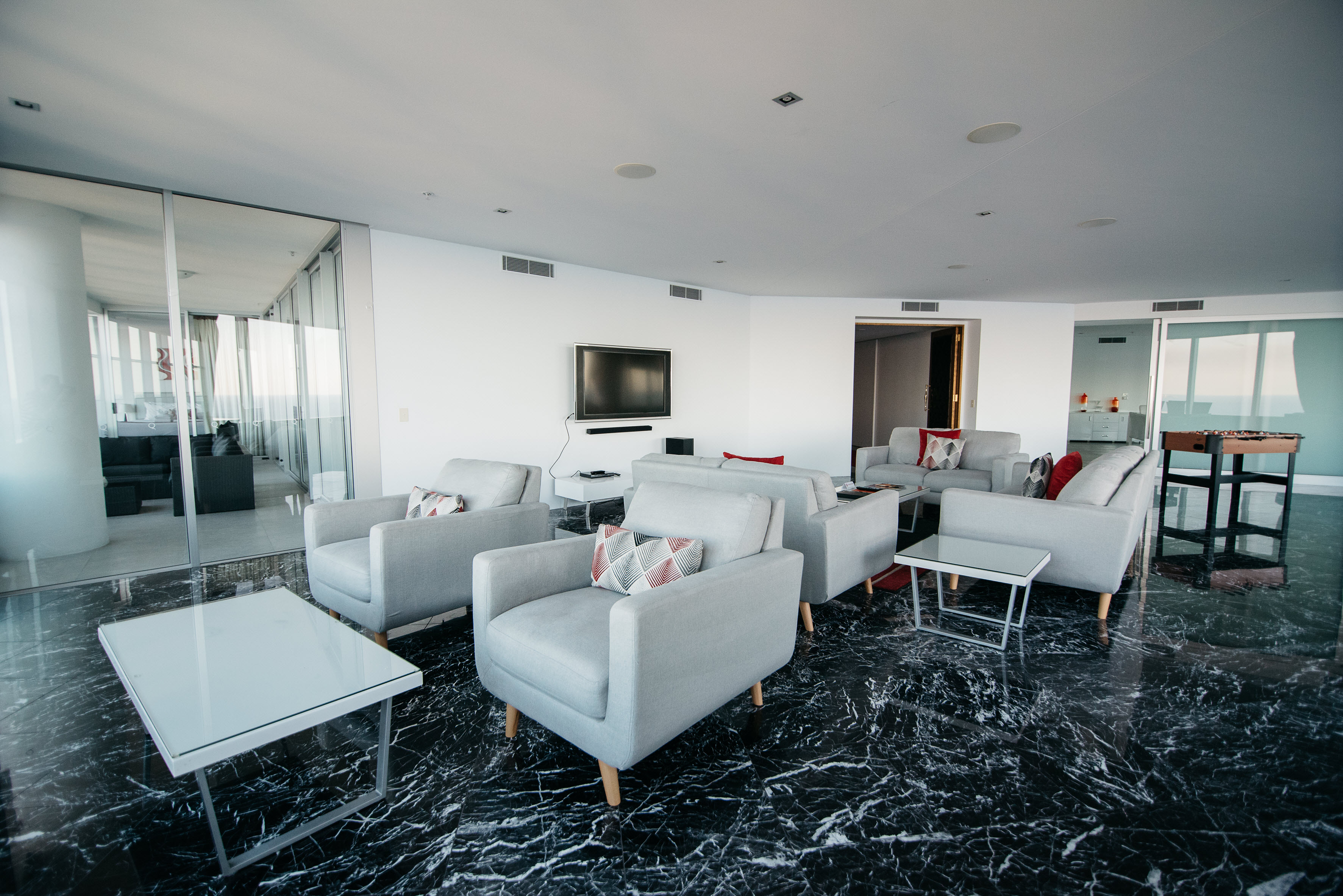 Q1 Resort & Spa Four Bedroom Penthouse Apartment | Living Area