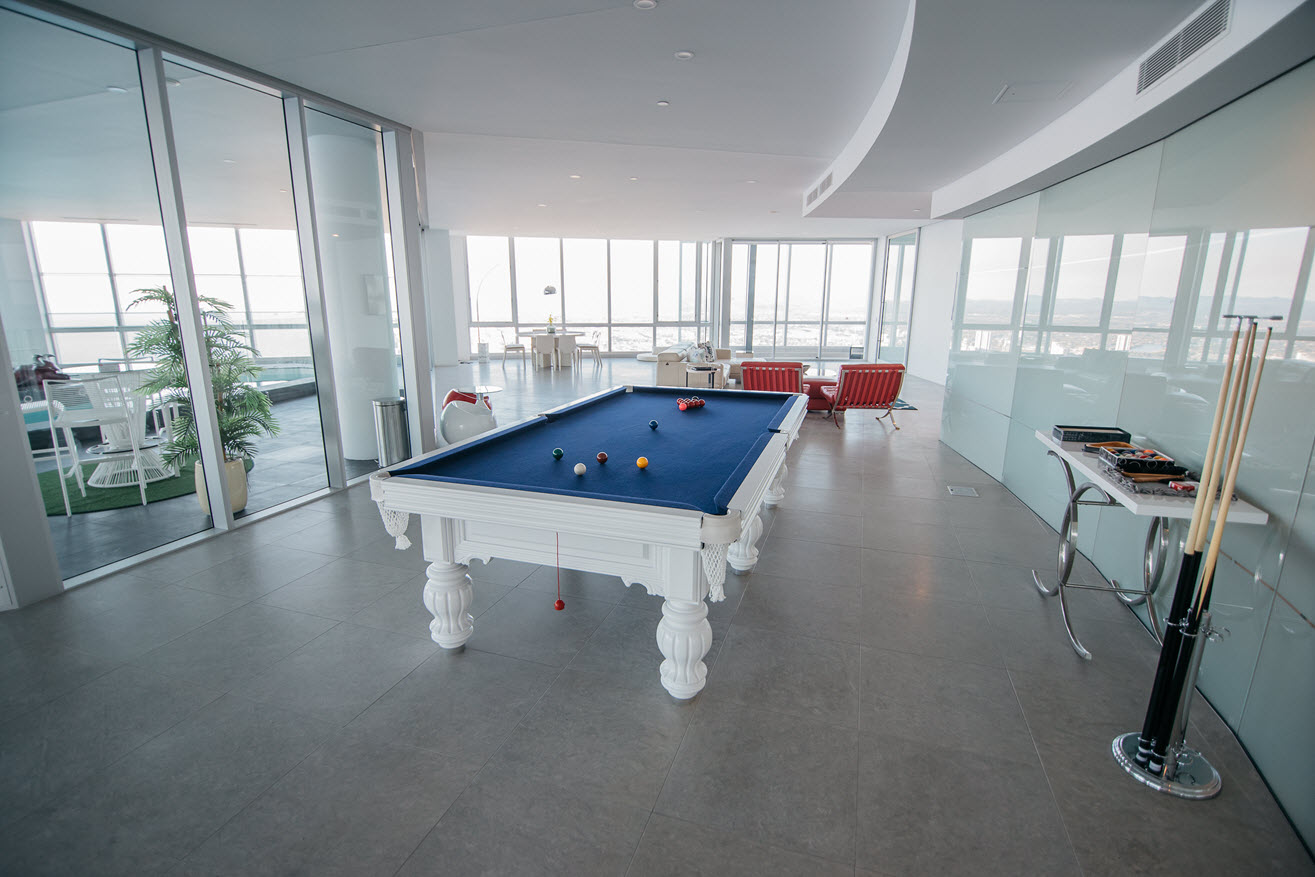 Q1 Resort & Spa Presidential Penthouse | Solid Slate Pool Table