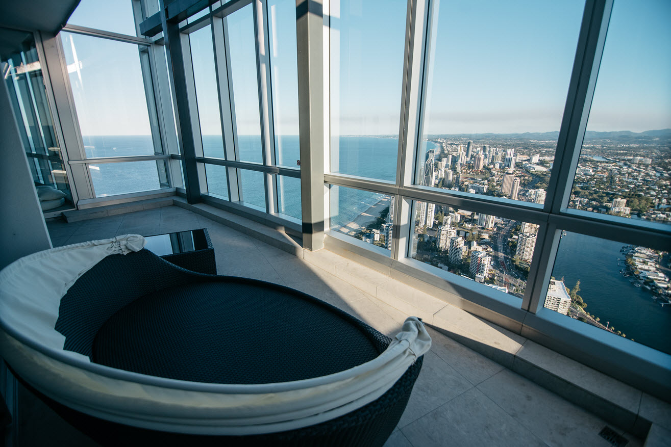 Q1 Resort & Spa Presidential Penthouse | Open Roof Balcony