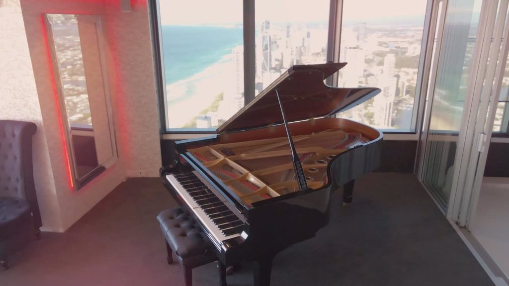 Two Bedroom Penthouse Apartment | Player piano